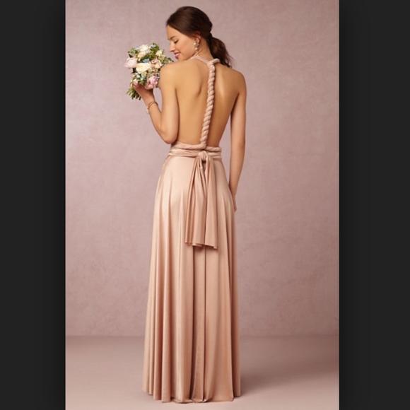 c3890d0bbaaf Twobirds Dresses | Two Birds Ginger Convertible Maxi Dress Rosewater ...